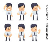 set of businessman character in ... | Shutterstock .eps vector #202507978