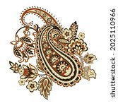 damask paisley isolated vector... | Shutterstock .eps vector #2025110966