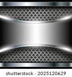 silver metal 3d background ... | Shutterstock .eps vector #2025120629