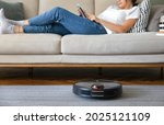 Robot Vacuum Cleaner Cleaning...