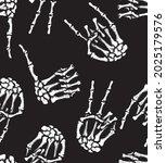 skeleton of a human hand... | Shutterstock .eps vector #2025179576