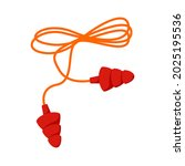 red curly lace ear plugs. flat... | Shutterstock .eps vector #2025195536