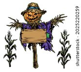 halloween vintage colorful... | Shutterstock .eps vector #2025220259