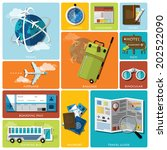 travel and journey flat icon... | Shutterstock .eps vector #202522090