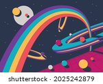 1980s style abstract... | Shutterstock .eps vector #2025242879