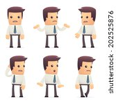 set of manager character in... | Shutterstock .eps vector #202525876