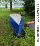 An Upside Down Blue Canoe...
