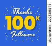 thanks hundred thousand... | Shutterstock .eps vector #2025308576