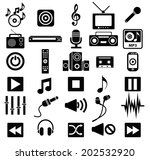 sound and music icon set... | Shutterstock .eps vector #202532920