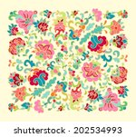 Stylized Floral Composition
