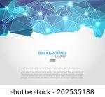 abstract 3d vector geometric... | Shutterstock .eps vector #202535188