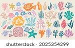 underwater marine flora set of... | Shutterstock .eps vector #2025354299