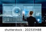 rear view of businesswoman... | Shutterstock . vector #202535488