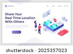 landing page template with... | Shutterstock .eps vector #2025357023