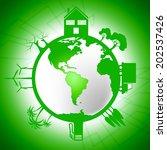 global world indicating eco... | Shutterstock . vector #202537426