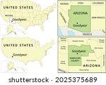 goodyear city location on usa ... | Shutterstock .eps vector #2025375689