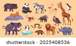 zoo animals big set with panda... | Shutterstock .eps vector #2025408536