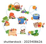mushrooms composition with... | Shutterstock .eps vector #2025408626