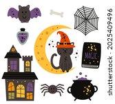 set of isolated magic design... | Shutterstock .eps vector #2025409496