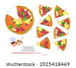 logic puzzle game for children... | Shutterstock .eps vector #2025418469