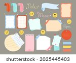 notebook paper sticky planner... | Shutterstock .eps vector #2025445403