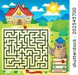 maze 3 with owl teacher   eps10 ... | Shutterstock .eps vector #202545700