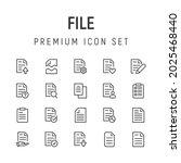 premium pack of file line icons....