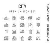 premium pack of city line icons....