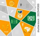 football  soccer infographic | Shutterstock .eps vector #202549300