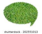 abstract green grass bubble... | Shutterstock . vector #202551013