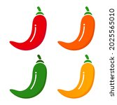 spicy chili pepper level labels....   Shutterstock .eps vector #2025565010