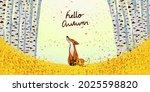 hello autumn landscape...   Shutterstock .eps vector #2025598820