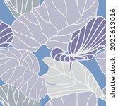 seamless vector botanical... | Shutterstock .eps vector #2025613016