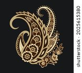 floral paisley colorful vector... | Shutterstock .eps vector #2025615380