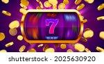 slot machine wins the jackpot.... | Shutterstock .eps vector #2025630920