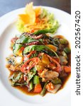 fish in oyster sauce            ... | Shutterstock . vector #202567420