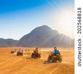 motorcycle safari egypt people... | Shutterstock . vector #202568818