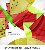 abstract geometric shapes... | Shutterstock .eps vector #202570513