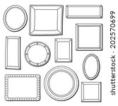 vintage vector frames set with... | Shutterstock .eps vector #202570699