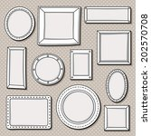 vector set of vintage frames | Shutterstock .eps vector #202570708
