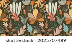 autumn seamless pattern with... | Shutterstock .eps vector #2025707489