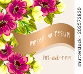 wedding invitation cards with... | Shutterstock .eps vector #202572820