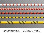 vector set of warning tapes....   Shutterstock .eps vector #2025737453