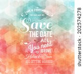 save the date for personal... | Shutterstock .eps vector #202574278