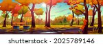 Autumn Landscape Background ...
