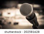vintage microphone | Shutterstock . vector #202581628