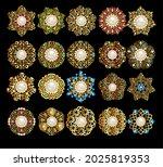 illustration set of jewelry... | Shutterstock .eps vector #2025819353