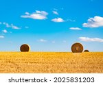 Hay Bales In Sunlight In...