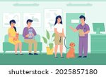 vet reception. registration... | Shutterstock .eps vector #2025857180