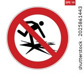 do not enter on ice prohibition ...   Shutterstock .eps vector #2025861443